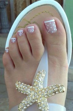 17 Ideas french pedicure designs toenails pretty toes for 2019 Nail Designs 2015, Toenail Art Designs, French Tip Nail Designs, Simple Nail Art Designs, Toe Nail Designs, Nails Design, Pretty Designs, Pedicure Nail Art, Toe Nail Art