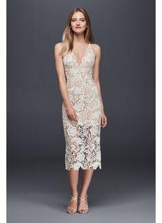 Illusion Lace Mid-Length Sheath Dress 12572008