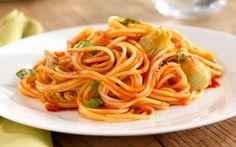 Barilla® Thin Spaghetti with Spicy Marinara Sauce, Artichokes & Parmigiano Cheese
