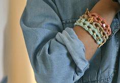 Cotton thread crocheted on chain!