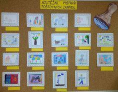 Světový den pošty - poštovní známka.