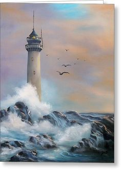 Lighthouse Greeting Card by Joni McPherson
