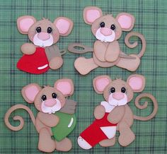 paper piecing christmas mice - bjl