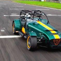 The #Caterham 7 (or Caterham Seven) is a super-lightweight sports car