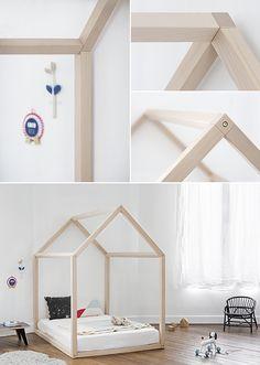 Bonnesoeurs Lit Maison toddler bed http://fr.smallable.com/lit-1-personne-90-cm/58752-lit-maison-en-hetre-naturel.html