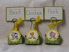 BBQ Binder Clips by mhines - Cards and Paper Crafts at Splitcoaststampers