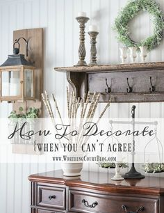 Five practical tips to help you overcome the decorating disagreements that many couples experience. || Worthing Court
