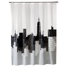 Room Essentials� City Scape Shower Curtain
