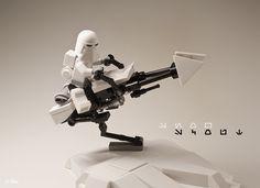 Lego Minecraft, Lego Moc, Minecraft Stuff, Lego Stuff, Lego Photography, Photography Projects, Lego Mandalorian, Starwars, Star Wars Bounty Hunter