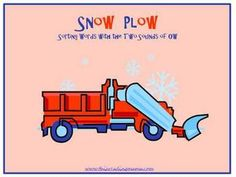Snow Plow: Sorting the Two Sounds of OW - Use this simple word sort to sort words with the OW pattern, either as the long o sound or the OU sound. (Includes blends and digraphs in the onsets.) This word sort is perfect for homeschoolers, small groups, or literacy centers.