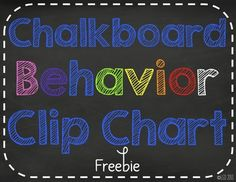 Chalk it Up to Great Behavior! Clip Chart Freebie from Tattling to the Teacher on TeachersNotebook.com -  (10 pages)  - Chalkboard Clip Chart