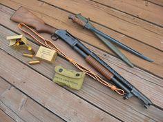 Winchester 1897 Trench Shotgun w/ bayonet. I love old trench guns