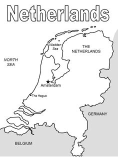 Print Netherlands # 4 Coloring Pages coloring page & book. Your own Netherlands # 4 Coloring Pages printable coloring page. With over 4000 coloring pages including Netherlands # 4 Coloring Pages . Coloring Pages To Print, Printable Coloring Pages, Coloring Pages For Kids, Coloring Books, World Geography, Geography Lessons, Teaching Geography, Netherlands Map, Holland
