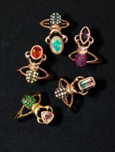 Dreaming in Color - Daniela Villegas insect rings