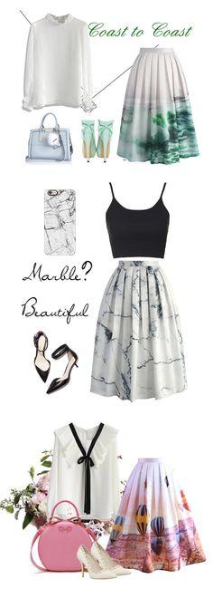 print midi skirt   chicwish.com                                                                                                                                                                                 More