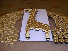 giraffe cupcake cake design layout | Cakes by Graham, Richmond's only custom cakery for weddings and other ...
