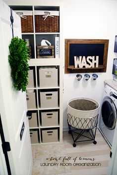 2 expedite stacked for storage. Laundry Room Organization via A Bowl Full of Lemons