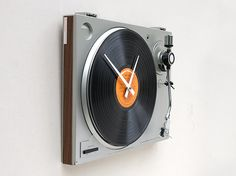 Feeling too nostalgic to get rid of that old turntable? Turn it into a rocking clock. Long live vinyl, even if it's just keeping time.