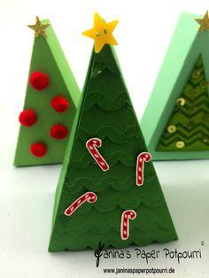 jpp - Cutie Pie Christmas Trees / Tortenstück Weihnachtsbaum Adventskalender / Stampin' Up! Berlin / Thinlits Tortenstück / cutie pie thinlits / Work of Art / Santa's Gift / Dotty Angles www.janinaspeprpotpourri.de