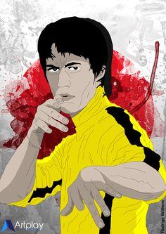 Desenho e Ilustração. Bruce Lee