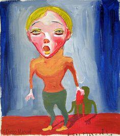 """""""La rubia 2"""", gouache on canvas, 24x 18 cm., year 1998"""