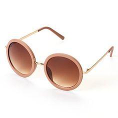 LC Lauren Conrad Myth Framed Round Sunglasses