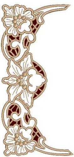 Advanced Embroidery Designs - Hibiscus Border