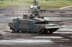 main battle tank | Japanese Type 10 Main Battle Tank and AH-64DJP Apache Gunship ...