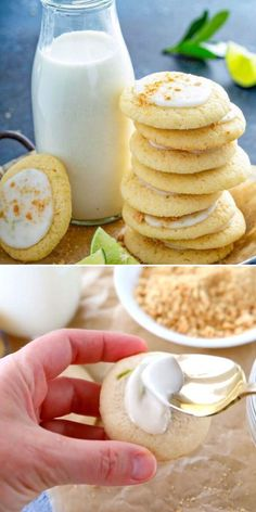 Key Lime Icing, Key Lime Cookies, Buttery Shortbread Cookies, Easy Summer Desserts, Icing Ingredients, Favorite Cookie Recipe, Easy Cookie Recipes, Yummy Food, Tasty
