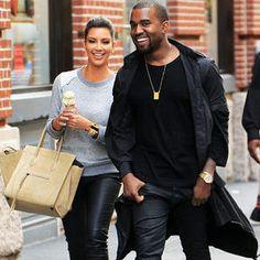 Kanye West And Kim Kardashian Wear Matching Pants?