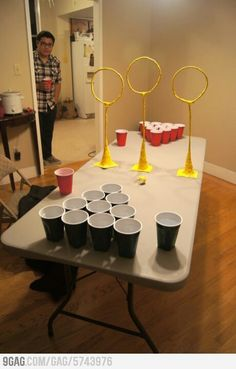 Quidditch beer pong just a thought lol