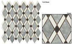 Glazzio Tiles Marble Mosaic & Listello Diamond Series