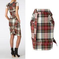 Vivienne Westwood スカート ☆2015/16AW☆ボンデージ スカート タータン ANGLOMANIA