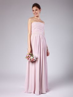 Strapless Column Bridesmaid Dress #Christmas #thanksgiving #Holiday #quote