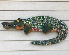 Bottle Cap Art - Alligator No.: 1