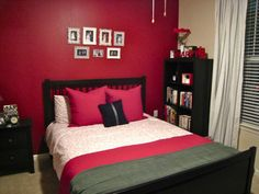 bedrooms with grey and red | red black gray bedroom | for the home