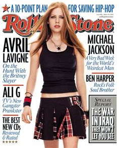 Avril Lavigne - Rolling Stone Magazine [United States] (20 March 2003)