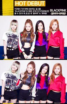핫데뷔 블랙핑크. YG에서 7년만에선보이는걸그룹 블랙핑크의데뷔! 오직 인기가요에서만 볼수있다 독점공개붐바야와휘파람