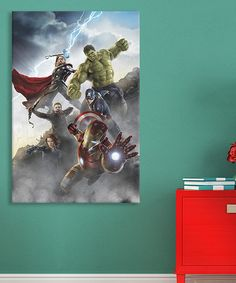 Look at this #zulilyfind! Avengers Attack Gallery-Wrapped Canvas by Avengers #zulilyfinds