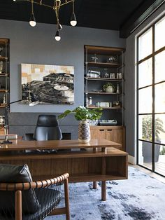 35 Masculine Home Office Ideas & Inspirations - Office Desk - Ideas of Office De. - 35 Masculine Home Office Ideas & Inspirations – Office Desk – Ideas of Office Desk - Mesa Home Office, Home Office Space, Home Office Desks, Executive Office Decor, Home Office Furniture Ideas, Black Office Furniture, Apartment Office, Office Spaces, Modern Office Decor