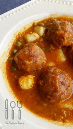 Albondigas, Lunches And Dinners, Chana Masala, Curry, Menu, Cooking, Ethnic Recipes, Food, Lose Belly