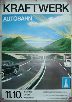 Contest 1975 Kraftwerk Autobahn Tour Poster
