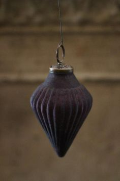 Aubergine Teardrop Decoration | discoverattic
