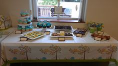 All the desserts were made from Tastefully Simple mixes.  Almond and Chocolate Pound Cake Cupcakes, Key Lime Cheese Ball with Twisty Grahams, Lemonade Iced Sugar Cookies, Truffle Fudge Brownies, Crazy For Coconut Macaroon Bars, Strawberry Swirl Cheesecake Bars, and Chocolate Almond Pound Cake Owl Cake Pops
