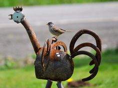 Yard art for the the birds