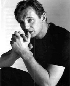 Liam Neeson. This man gets sexier the older he gets! Young actors don't know how to be men yet, which is why I prefer older actors with character and intensity.