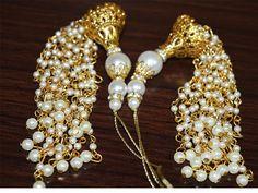 Gold Tassels for Wedding Lehenga / Dress Blouses / tassel charm / Accessories Latkan / Curtain Tassels / Dupatta Tassel