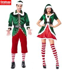 Christmas Xmas Fancy Dress Women Men Elf Santa Claus Cosplay Costume Perform NEW Christmas Elf Costume, Christmas Costumes, Xmas Elf, Family Halloween, Halloween Costumes, Xmas Party Dresses, Christmas Party Outfits, Merry Christmas, Womens Christmas