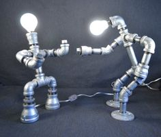 Lámpara tubo de robot hierro tubo lámpara galvanizado Robot