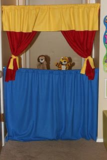 Tension rod puppet theater - REALLY WANT TO DO THIS ASAP!